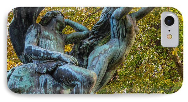 IPhone Case featuring the photograph Linden Place Sculpture by Glenn DiPaola
