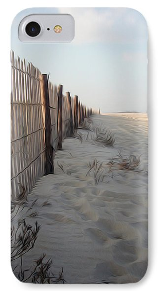 IPhone Case featuring the digital art Line In The Sand by Kelvin Booker