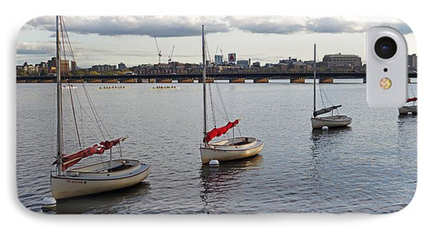 Line Of Boats On The Charles River IPhone Case by Toby McGuire