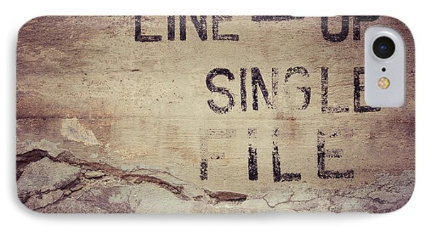 Line Up Single File IPhone Case