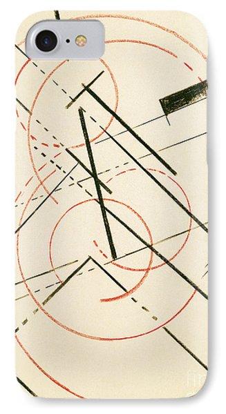 Linear Composition Phone Case by Lyubov Sergeevna Popova
