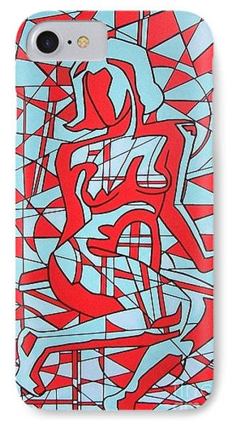 Lined Girl IPhone Case by Thomas Valentine