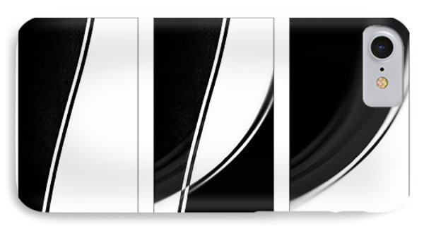 Lines And Curves In Black And White Phone Case by Natalie Kinnear