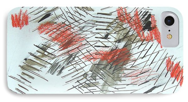 IPhone Case featuring the painting Lines In Movement by Esther Newman-Cohen