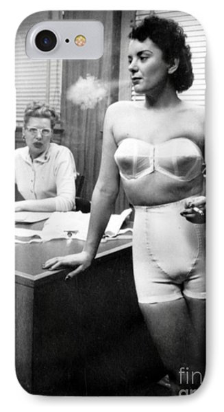 Lingerie Model, 1949 IPhone Case by Science Source