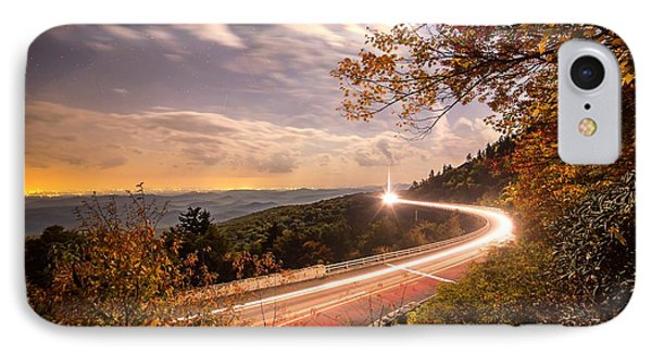 Linn Cove Viaduct Light Trails IPhone Case by Robert Loe