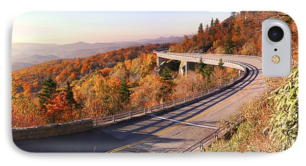 Linn Cove Viaduct On An Autumn Morning IPhone Case by Gregory Scott