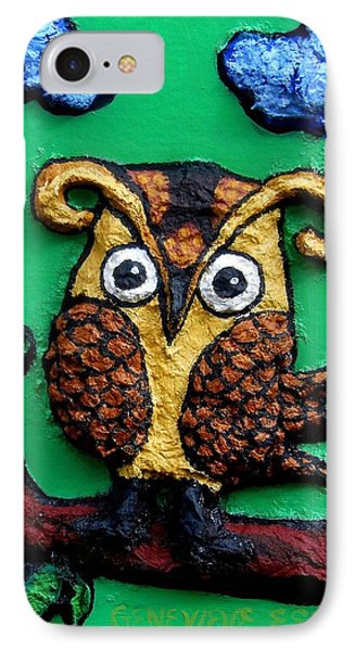 Lint Owl Detail Phone Case by Genevieve Esson