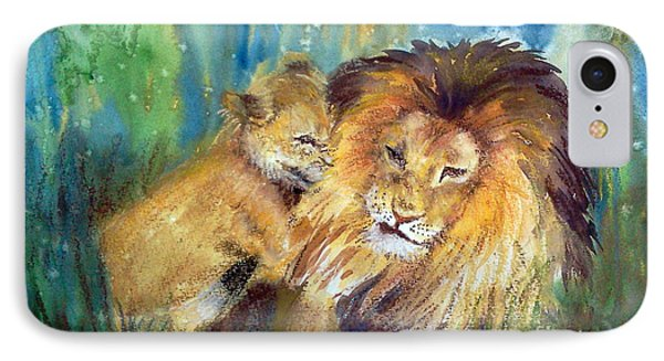 Lion And Cub -2 IPhone Case
