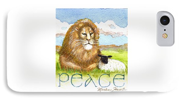 Lion And Lamb - Peace  IPhone Case