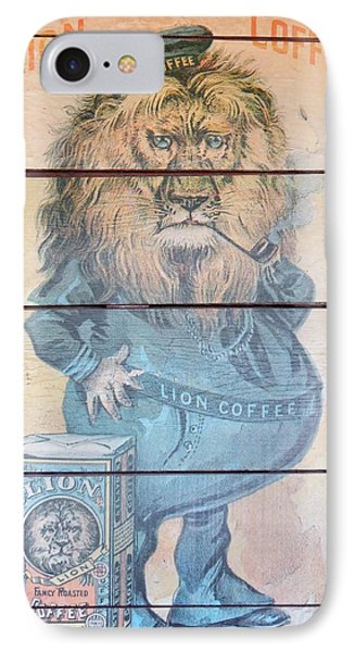 Lion Coffee Phone Case by Susan Ince