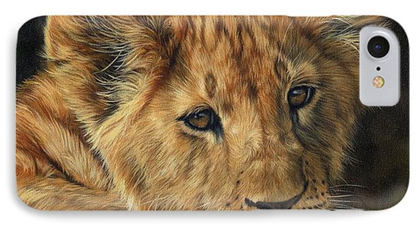 Lion Cub IPhone Case by David Stribbling