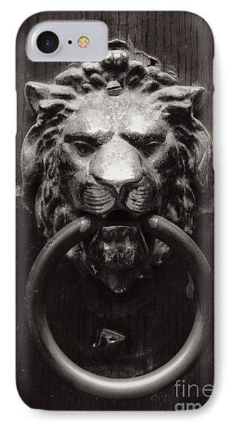 Lion Door Knocker Phone Case by Carol Groenen