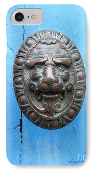 Lion Face Door Knob Phone Case by Lainie Wrightson