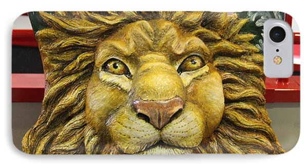 Lion Face Guitar IPhone Case by Cynthia Snyder