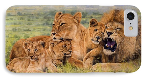 Lion Family Phone Case by David Stribbling