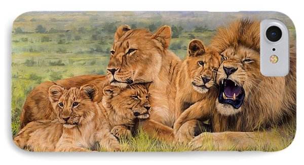 Lion Family IPhone Case by David Stribbling