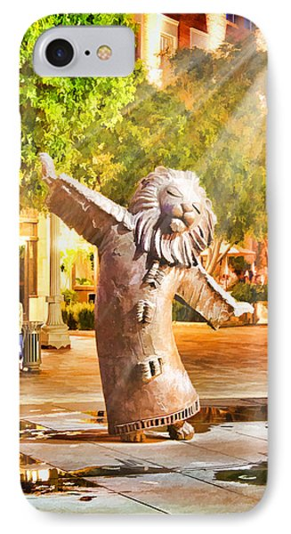 Lion Fountain IPhone Case by Chuck Staley
