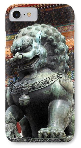 IPhone Case featuring the photograph Lion In Forbidden City by Kay Gilley