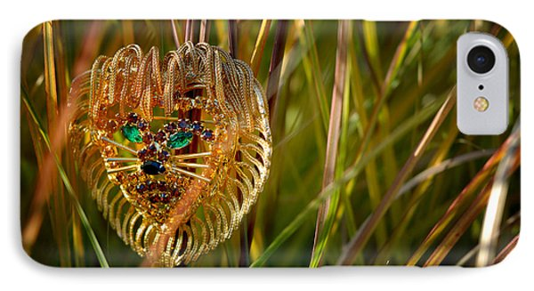 Lion In The Grass Phone Case by Amy Cicconi