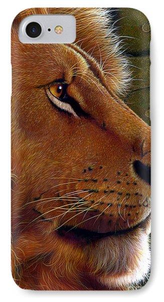 Lion King IPhone Case by Jurek Zamoyski