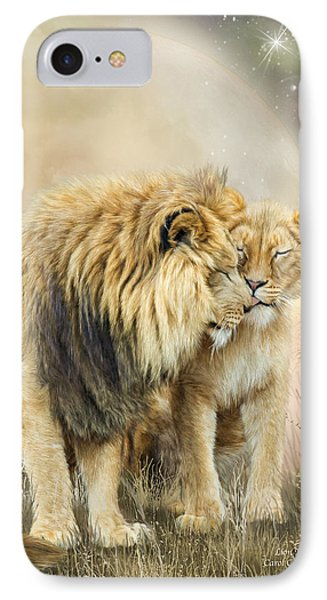 Lion Kiss IPhone Case by Carol Cavalaris