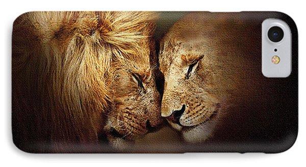 Lion Love Phone Case by Robert Foster