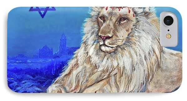 Lion Of Judah - Jerusalem IPhone Case by Bob and Nadine Johnston