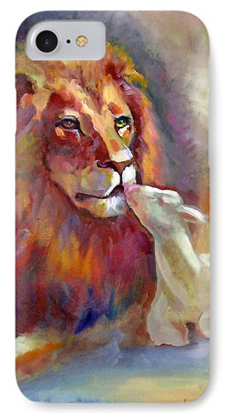 Lion Of Judah Lamb Of God Phone Case by Judy Downs