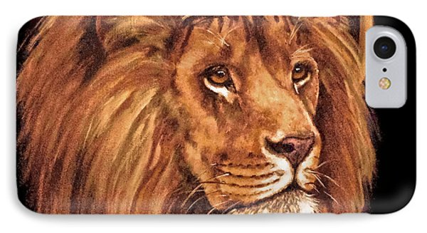 Lion Of Judah - Menorah IPhone Case by Bob and Nadine Johnston