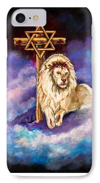 Lion Of Judah Original Painting Forsale IPhone Case by Nadine Johnston