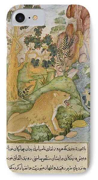 Lion Of The Plains Near Baghdad IPhone Case by British Library