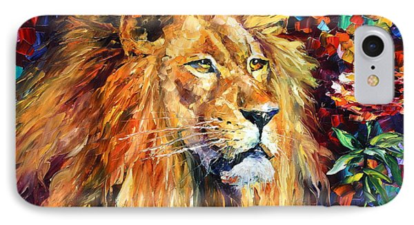 Lion IPhone Case by Leonid Afremov