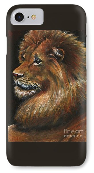 Lion Portrait IPhone Case by Alga Washington