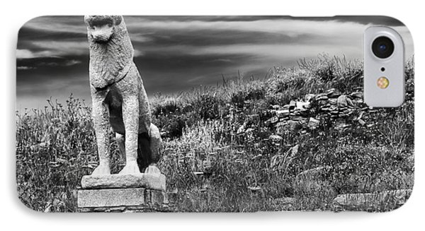 Lion Ruins On Delos Island IPhone Case by John Rizzuto