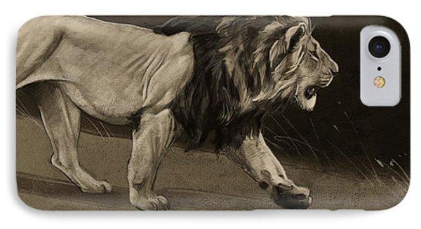 Lion Sketch IPhone Case