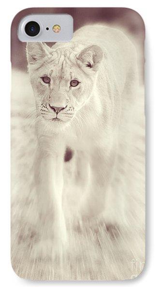 Lion Spirit Animal IPhone Case by Chris Scroggins