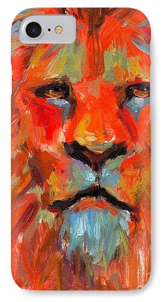 Lion IPhone Case by Svetlana Novikova
