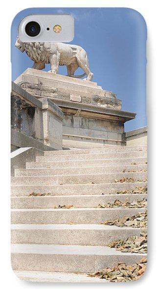 IPhone Case featuring the photograph Lion Tuileries Garden Paris by Jeremy Voisey