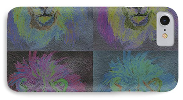 Lion X 4 Color  By Jrr Phone Case by First Star Art