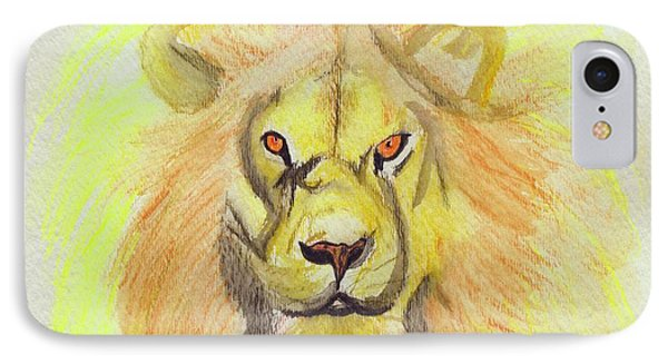 Lion Yellow IPhone Case by First Star Art