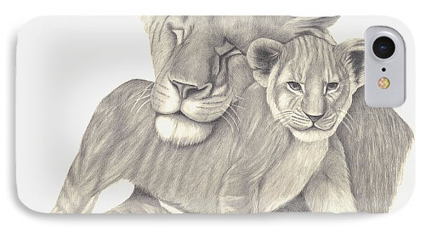 Lioness And Cub IPhone Case by Patricia Hiltz