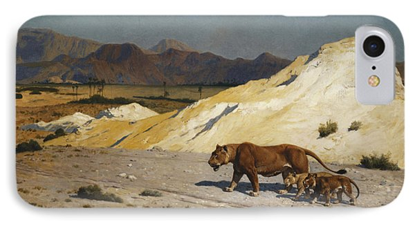 Lioness And Cubs IPhone Case