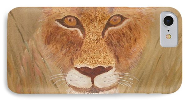 Lioness In Waiting IPhone Case
