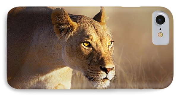 Lioness Portrait-1 IPhone Case by Johan Swanepoel