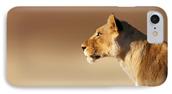 Lioness Portrait IPhone Case by Johan Swanepoel