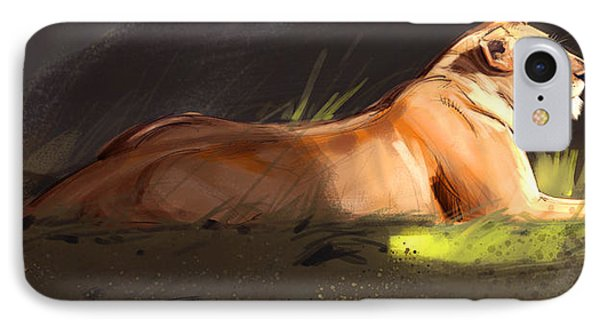 Lioness Sketch Phone Case by Aaron Blaise