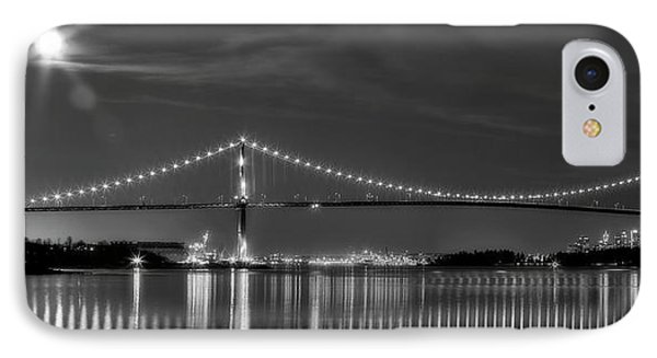 Lions Gate Bridge Black And White Phone Case by Naman Imagery