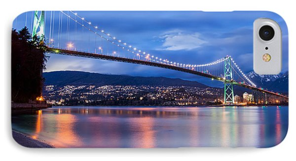 Lions Gate Bridge Just After Sunset IPhone Case by James Wheeler