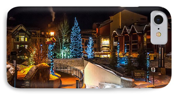 Lions Head Village Vail Colorado IPhone Case by Brenda Jacobs